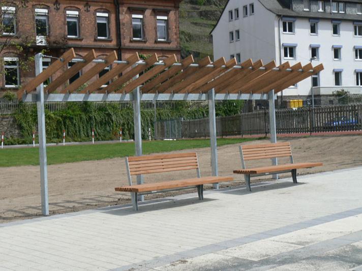 Pergola deck bauernhof befestigt hinterhof rgeöffnete teich